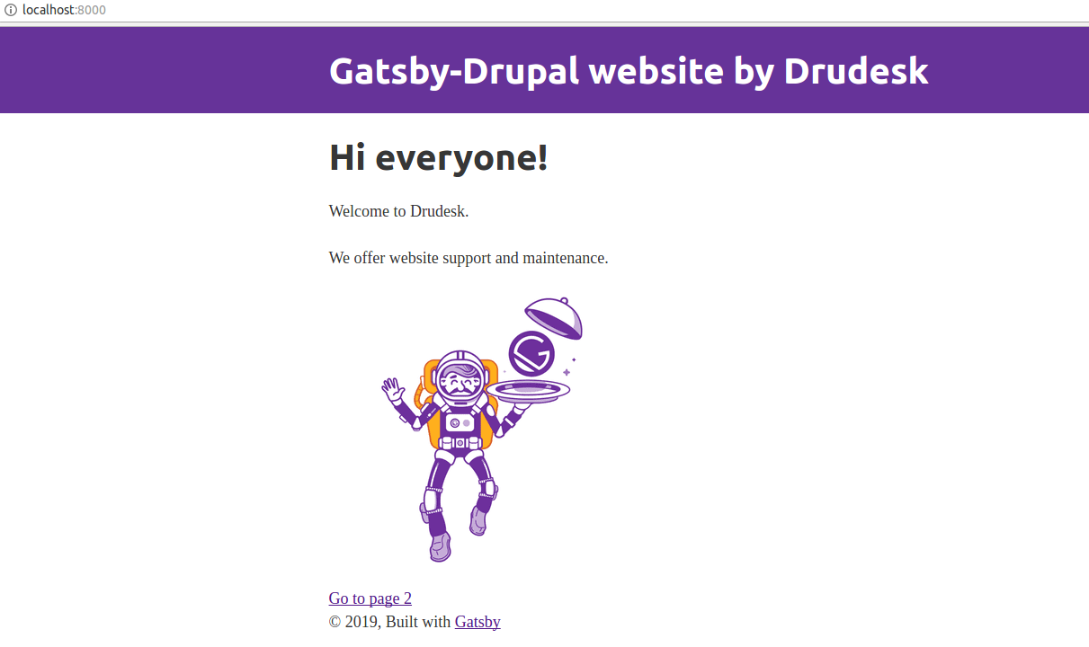 Gatsby-Drupal website by Drudesk