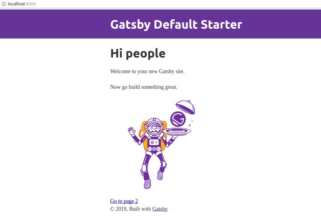 GatsbyJS website