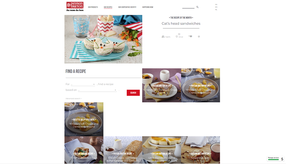 Paysan Breton Drupal website - finding recipes by multiple characteristics