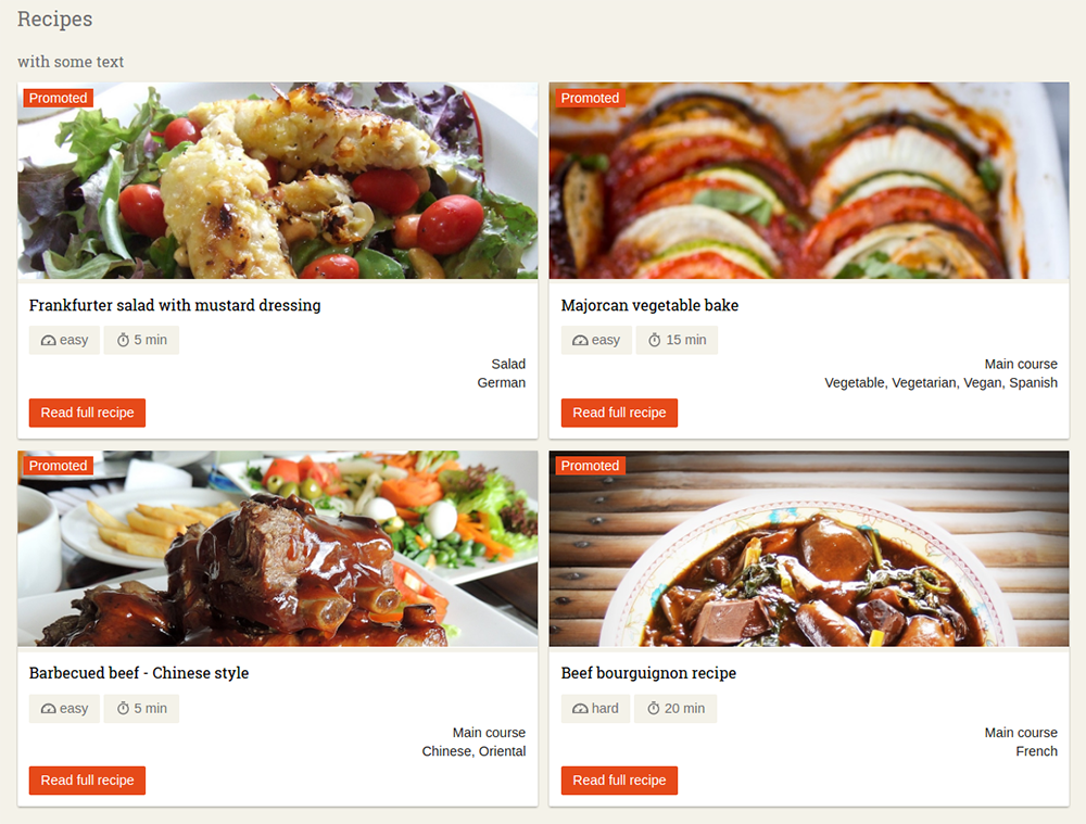 Why create a food website with Drupal (examples) | Blog Drudesk
