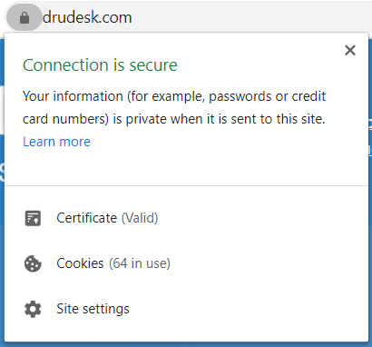 Check SSL certificate on a website