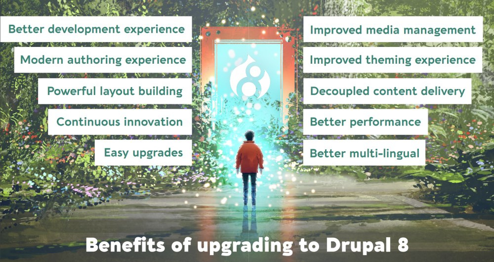 Dries Buytaert's presentation: there are many reasons to upgrade to Drupal 8 now