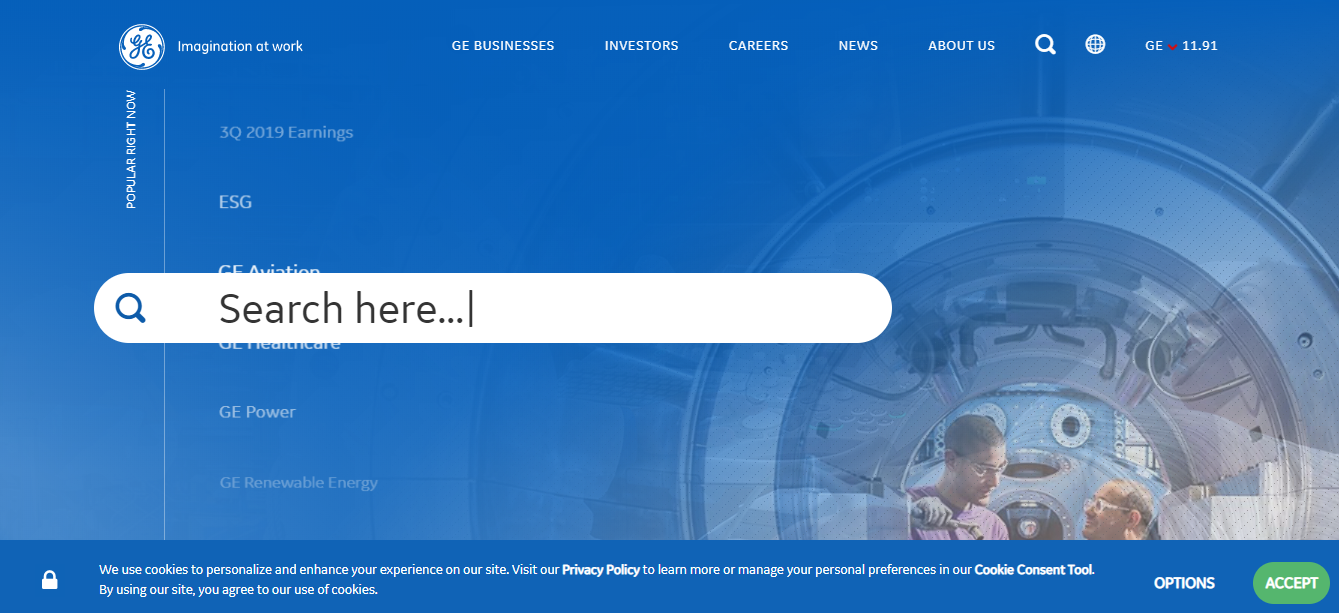 General Electric site on Drupal