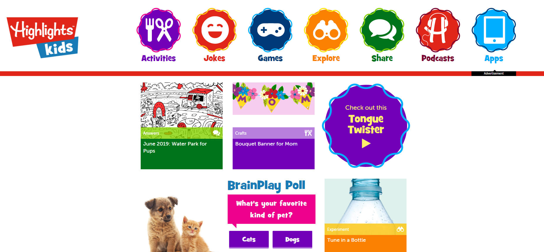 Highlights Kids website