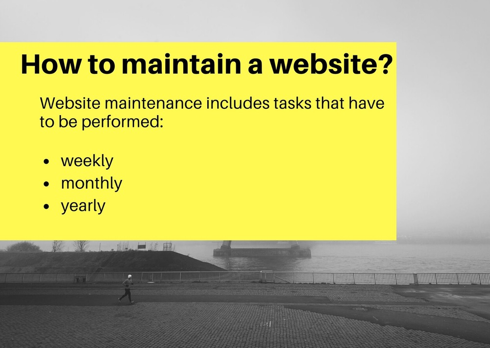 How to maintain a website