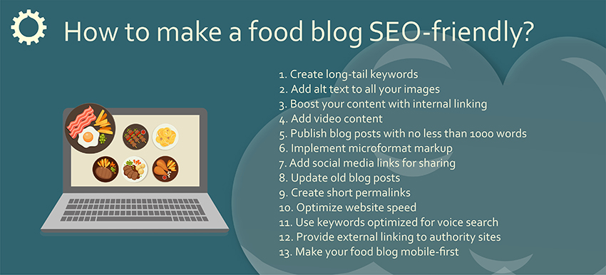 SEO tips for food blogs