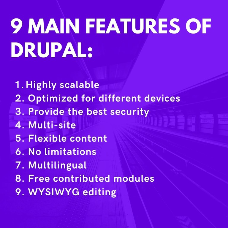 main features of drupal