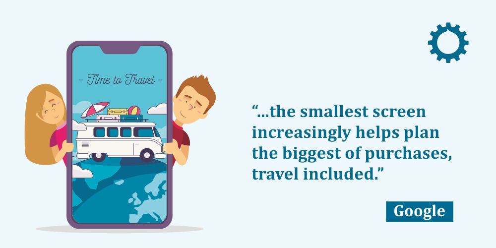 Quote by Google about travel websites