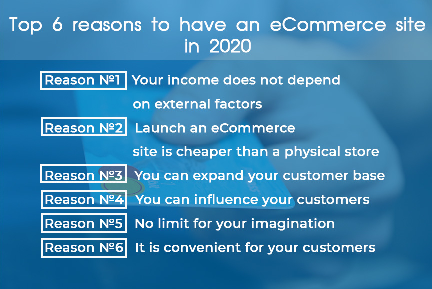 Top 6 reasons to have an eCommerce site in 2020