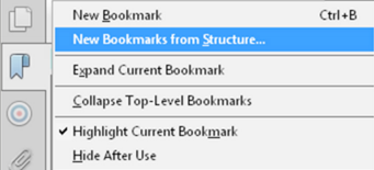 Using bookmarks to make PDF accessible
