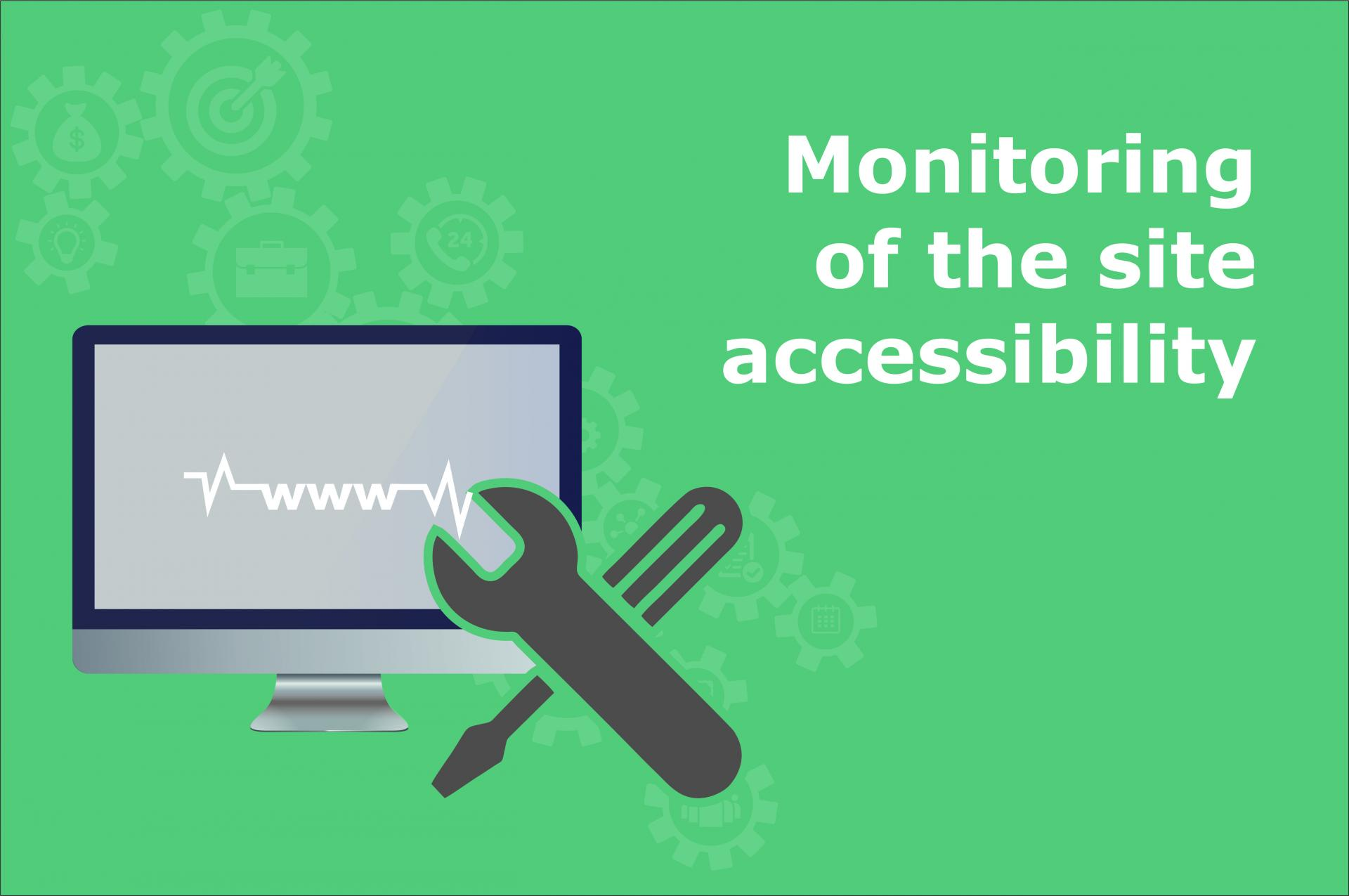 Monitoring of the site accessibility