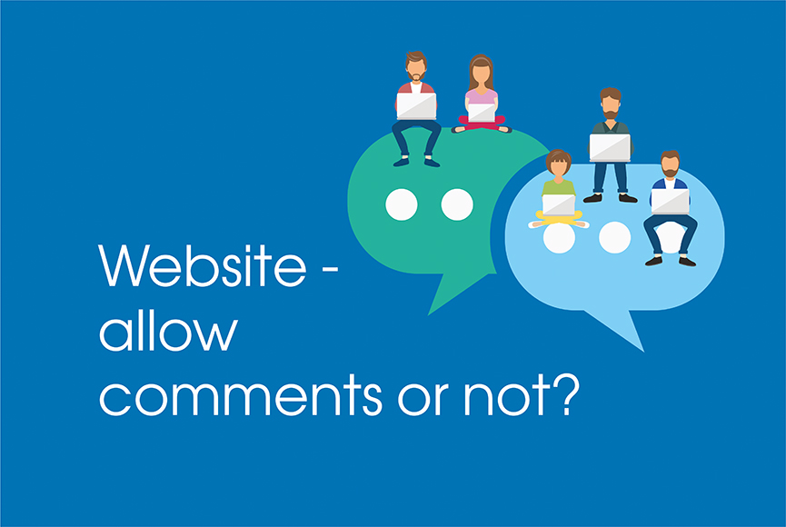 To allow comments on your website or not
