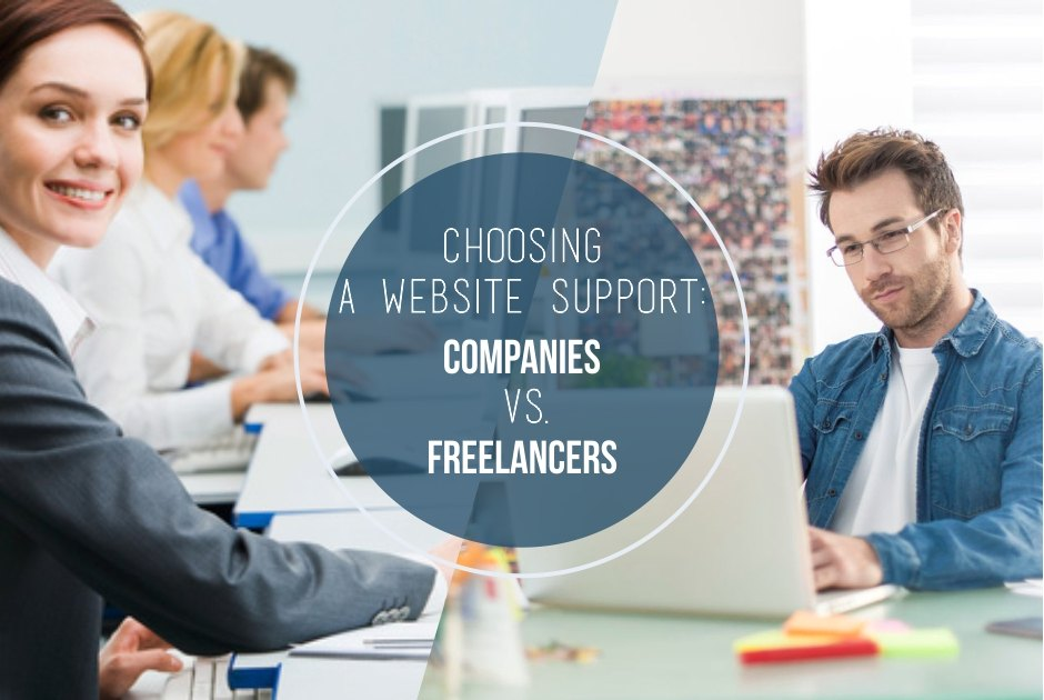 Website support: reasons to choose a company over a freelancer