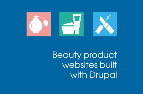 beauty product websites built with Drupal