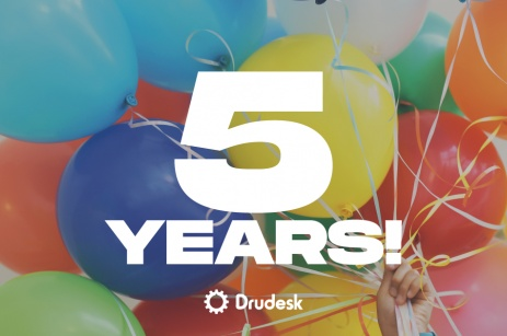DruDesk celebrates the fifth year