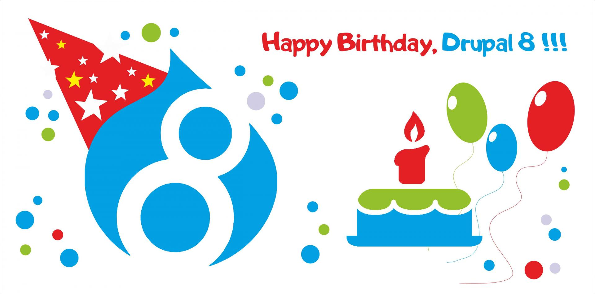 Drupal 8 released, happy birthday!