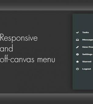 Drupal 8 Module: Responsive and off-canvas menu