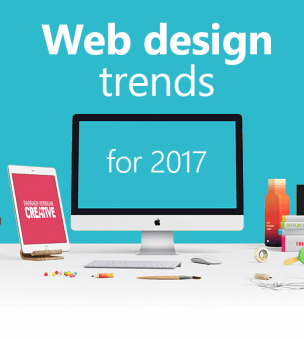 What are some web design trends that will remain important in 2017?